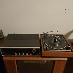Vintage Magnavox Solid State 1000 Stereo Receiver W/ Micromatic Turntable 1k8890