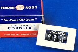 Nos Veeder Root Ground Speed Small Reset Counter Vintage Aircraft Dial Indicator