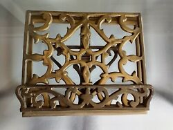 Antique Ornate Solid Brass Easel Book Stand Bible Cookbook Music Rare Book