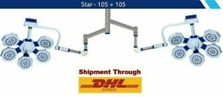 Latest Double Star Examination Surgical Ot Light Star 105 + 105- Ceiling / Wall