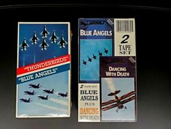 Sealed 80s Vhs Dancing With Death Blue Angels Thunderbirds Stunt Pilots Jets Oop