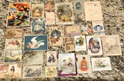 Vintage Victorian Trade Card Scrap Booking Lot C1890's Cut Outs Advertising