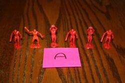 Set Of Six Vintage Multiple Toymakers Mpc Cavemen For Dinosaur Playset A - Marx