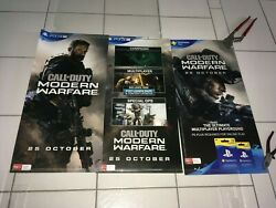 Call Of Duty Modern Warfare 2019 Rare Ma15+ Aust 3 X Pack Ds Games Poster 5 S