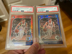 2🔥🏀2019 Luka Doncic Nba Hoops Premium Stocks Pulsar Blue And Red Psa 9 Sp Rare