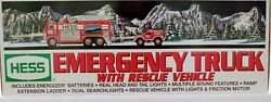 2005 Hess Emergency Truck With Rescue Vehicle Nib No Batteries