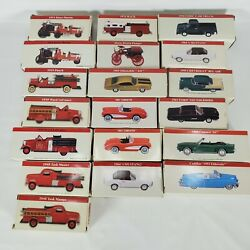 19 Vintage Readers Digest Toy Cars In Boxes 2001 Fire Trucks And Hotrods