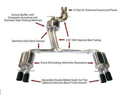 Awe For 10-16 Audi B8 S4 3.0t Touring Edition Exhaust Diamond Black Tips 90 Mm