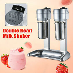 300w Stainless Steel Milk Shake Juicers Machine Double Head Drink Mixer 110v Usa