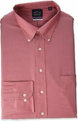 Eagle Men's Tall Fit Dress Shirts Non Iron Stretch Button Down Collar Solid Big