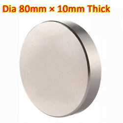 N35 Ndfeb Magnets 80x10mm Neodymium Disc Small Strong Thin Round Craft Magnet