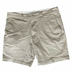 American Eagle Outfitters Khaki Shorts Mens 36 Stretch Tan