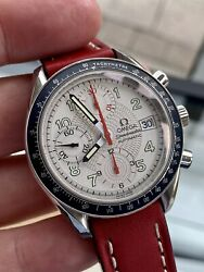 Omega Speedmaster Reduced 38mm Red Hand Date Dial Men's Automatic Steel Watch