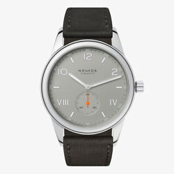 Nomos Club Campus Cl1a1ag138cp Mechanical Manual 17-jewels Stainless Leather