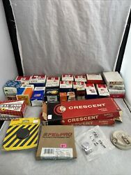 Lot Of 28 Delco Remy Motorcraft Ignition Parts , Exhaust Parts Thermostat Filter