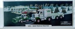 2013 Hess Toy Truck And Tractor New In Box With Bag No Batteries