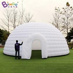 Personalized Large Inflatable Family Camping Recreation Dome White Igloo Tent