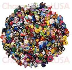 Lot of 50 100 200 Different Random PVC Shoes Charms For Crocs amp; Wristbands
