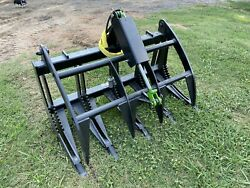 48andrdquo Skid Steer Or Compact Tractor Brush Grapple With Replaceable Teeth