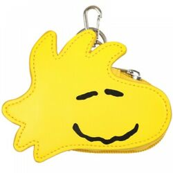Peanuts Snoopy Die-cut Coin Case Keychain Woodstock From Japan F/s