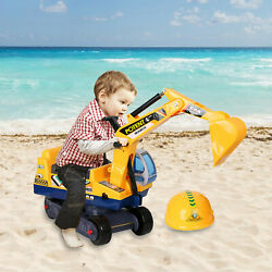 Livebest Kids Ride On Excavator Truck Toddler Car Toys Digger Tractors Xmas Gift