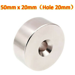 N35 50mm X 20mm Hole 20mm Ring Round Disc Strong Magnets Rare Earth Neodymium