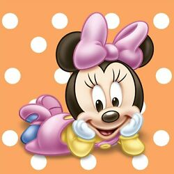 Minnie Mouse Baby 1st Birthday Party Beverage Napkins