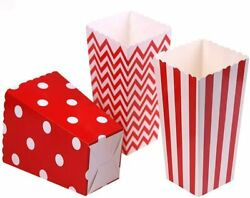 36pcs/lot Colorful Favor Candy Treat Popcorn Boxes For Candyandfoodandchocolate Wed