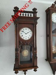 Vedette Antique French Westminster Chime Wall Clock 0404