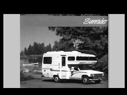 Sunrader Motorhome Operation And Service Manuals For Toyota Rv Service And Repair