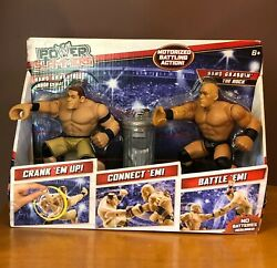 Mattel Wwe Power Slammers John Cena And The Rock New In Box With Garbage Can