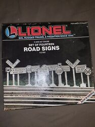 Lionel Set Of Train Track Road Signs