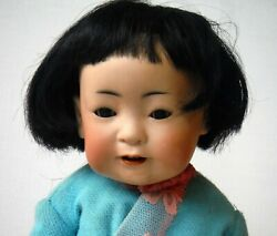 Antique Jdk Kestner Chinese Character Doll 243 Bisque Baby 12 Excellent P1424