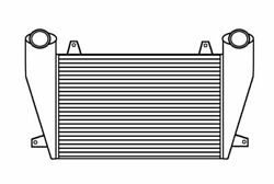 1990-2005 For Freightliner Fld 112 Fld 132 Charge Air Cooler With Bar And Plate