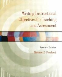 Writing Instructional Objectives For Teaching And By Norman E. Gronlund Mint