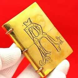 Antique - Trench Art - Book - Ww1 - Military - Soldier - Petrol - Lighter