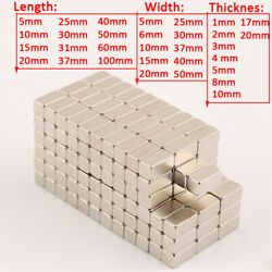 Strong Magnet Ndfeb L5mm To L100mm Neodymium N35 Grade Block Rectangle Magnets