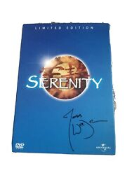 Limited Ed Serenity Joss Whedon Signed Autograph Serenity Dvd Official Release