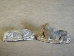Two Antique Chinese Pottery Dogs - 2897