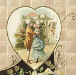 C1910 Winsch Back Wealthy 18th Century Couple Cupid Heart Valentines Day P281