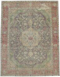 10x13 Muted Classic Floral Design Antique Oriental Rug Handmade Carpet 9and0397x12and0397