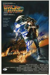 Back To The Future Cast Autographed 12 X 18 Movie Poster With 5 Signatures
