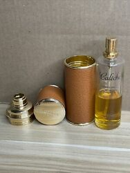 Hermes Paris Refillable Perfume Leather Atomizer W/ Hermes 45 Full Bottle Used
