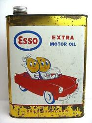 1950 Esso Oil Drop Vintage Cans Made In France