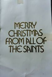 Vintage 1972 New Orleans Saints Christmas Card With The Entire Teamand039s Autographs