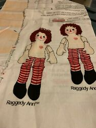 Daisy Kingdom Raggedy Ann And Andy Dolls And Outfits That Had Parts Cut