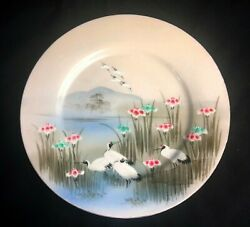 14 Antique Japanese Porcelain Plates Hand Painted Hand Signed