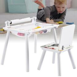 Removable Kids Table and Chair Set Children Study Table Desk With Storage Set