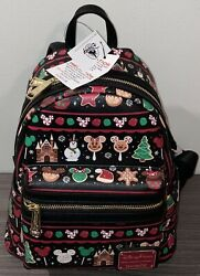 2019 Disney Parks Loungefly Holiday Christmas Snacks Food Icons Backpack New