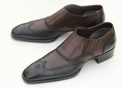 Tom Ford Dark Brown Black Leather Loafers Menand039s Shoes Size 9.5